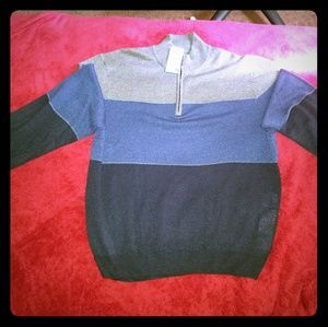 Men's quarter zip soft acrylic sweater